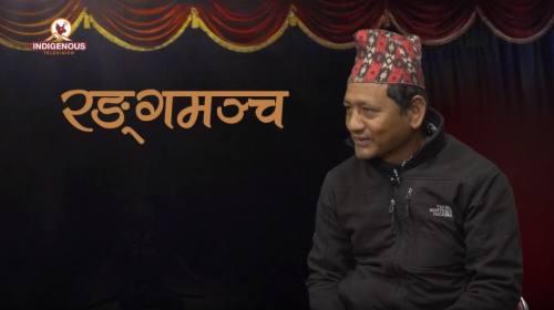 Bikram Shishir (Painting Artist) On Ranga mancha w