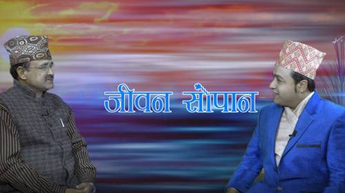 Bishnu Prasad Chaubey On Jiwan Sopan with Krishna