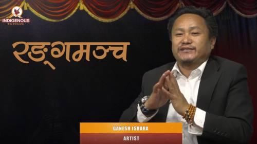 Ganesh Ishara (Artist) On Ranga mancha with Pravee
