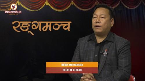 Nabin Menyangbo (Theater Person) On Ranga Mancha W